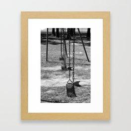 Empty Playground Framed Art Print