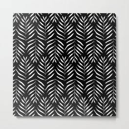 Black and white Palms Metal Print