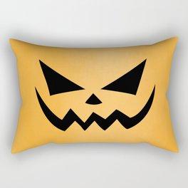 Scary Jack-O-Lantern Rectangular Pillow