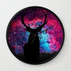 Deer Galaxy Wall Clock