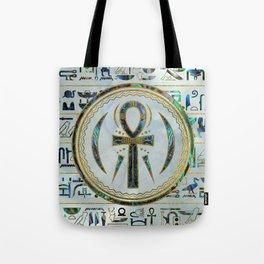 Abalone Shell Egyptian Ankh Cross symbol Tote Bag