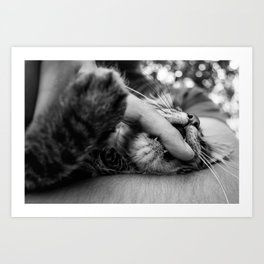 your finger is mine Art Print