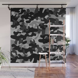Camouflage (Gray) Wall Mural