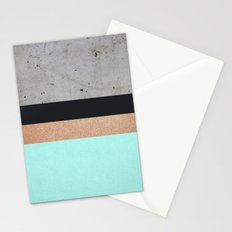 Abstract Turquoise Pattern Stationery Cards