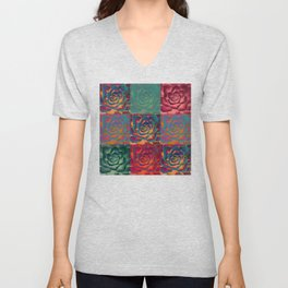 """Exotic Succulent Pop Art"" Unisex V-Neck"