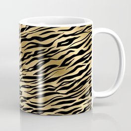 Light Gold and black metal tiger skin Coffee Mug