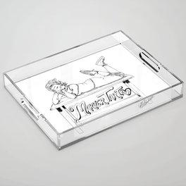 MarverTart Linework Acrylic Tray
