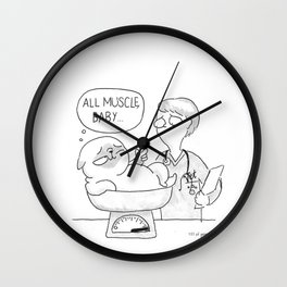 all muscle baby... Wall Clock