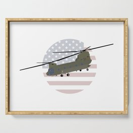 Military CH-47 Chinook Helicopter Serving Tray