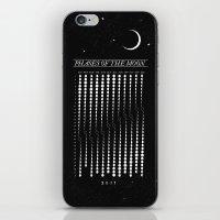 calendar iPhone & iPod Skins featuring 2015 Moon Calendar by Nick Wiinikka