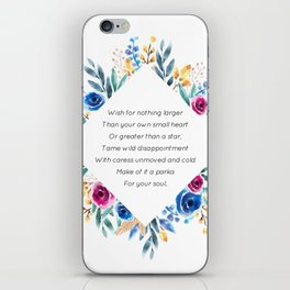 your own small heart - A. Walker Collection iPhone Skin