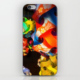 Chinese lanterns between colors and light iPhone Skin