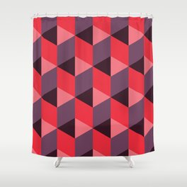 Queen of Hearts [isometrix 013] Shower Curtain