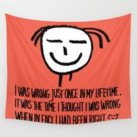 philosophy Wall Tapestries featuring Life Philosophy (Anonymous) Wall Art01 Color by Chicca Besso