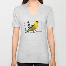 Washington – American Goldfinch Unisex V-Neck