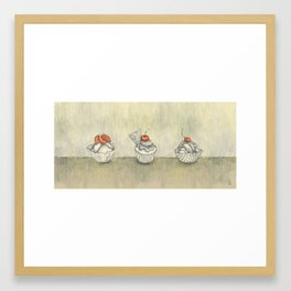 My Sad Ice Cream :( Framed Art Print