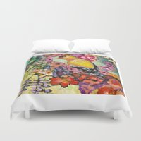 camouflage Duvet Covers featuring Camouflage by Liz Thoresen