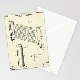 Combined case and post for lawn-tennis nets-1908 Stationery Cards