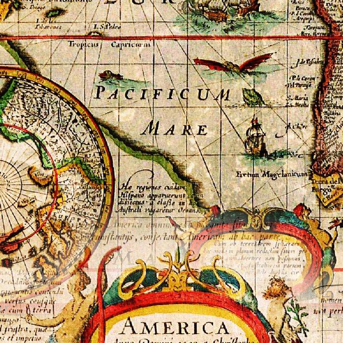Vintage Map Leggings