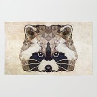racoon Area & Throw Rugs featuring Racoon by Ancello