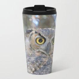 Young Owl at Noon Travel Mug