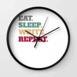 Funny Writer Quote Quotes Author Wall Clock
