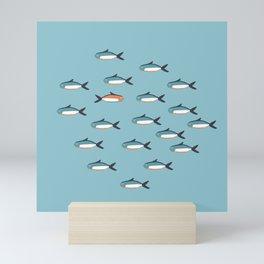 Little fishes Mini Art Print