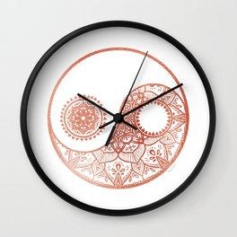 jing and jang Wall Clock