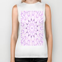 lavender Biker Tanks featuring lavender by Simply Chic