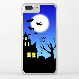 Halloween Nightmare Clear iPhone Case