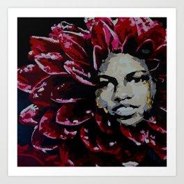 Mama Dahlia Art Print