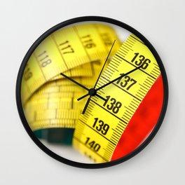 Measuring tape Wall Clock