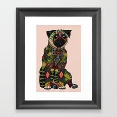 pug love pale dogwood Framed Art Print