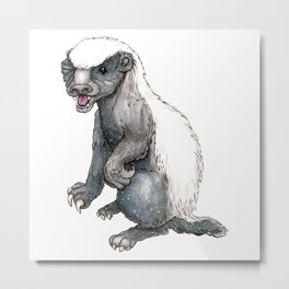 Sassy Honey Badger Metal Print