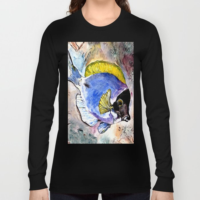 fish with yellow fin Long Sleeve T-shirt