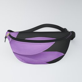 Agave Finesse #10 - Purple on Black #tropical #decor #art #society6 Fanny Pack