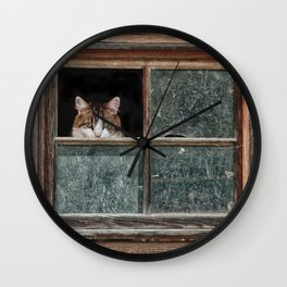 Scaredy Cat Wall Clock