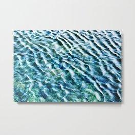Glittering Waves Metal Print