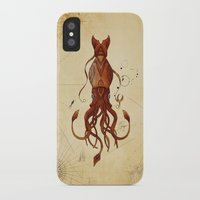 kraken iPhone & iPod Cases featuring Kraken by Laurence Andrew Page Illustrator