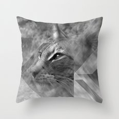 Broken Lynx Throw Pillow