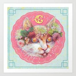 C cat Art Print