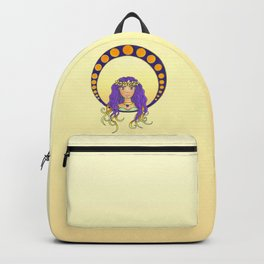 Tropical Lady - Art Nouveau style Backpack