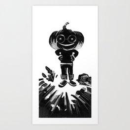 Little Bertha Pumpkin Head Art Print