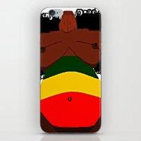 rasta iPhone & iPod Skins featuring Rasta Beauty by Courtney Ladybug Johnson