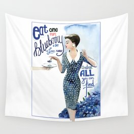 Blueberry Wall Tapestry