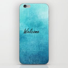 Turquoise Texture Welcome |  Texture Turquoise iPhone Skin