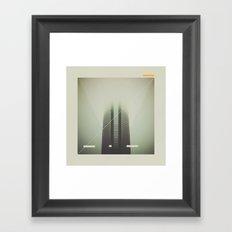 Devon Tower Divided By Fog Framed Art Print