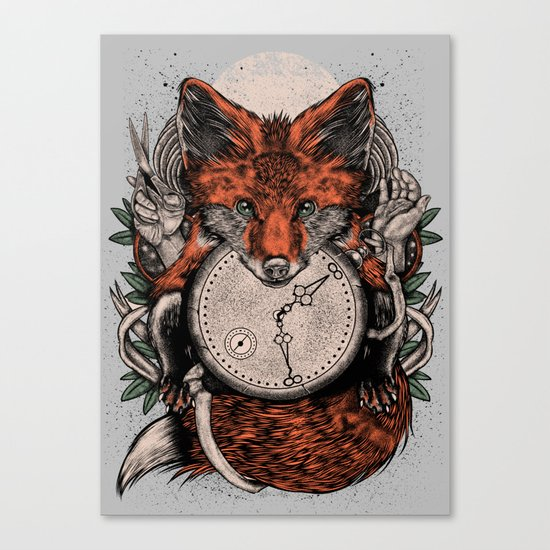 Chaos Fox Canvas Print