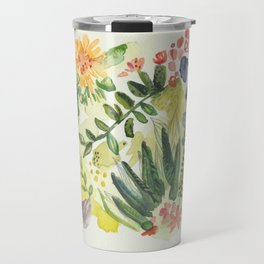 Florals and Corals Travel Mug