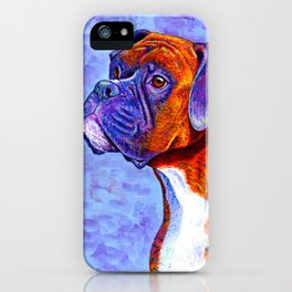 Colorful Brindle Boxer Dog iPhone Case